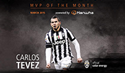 Carlos Tevez voted for the month of March MVP