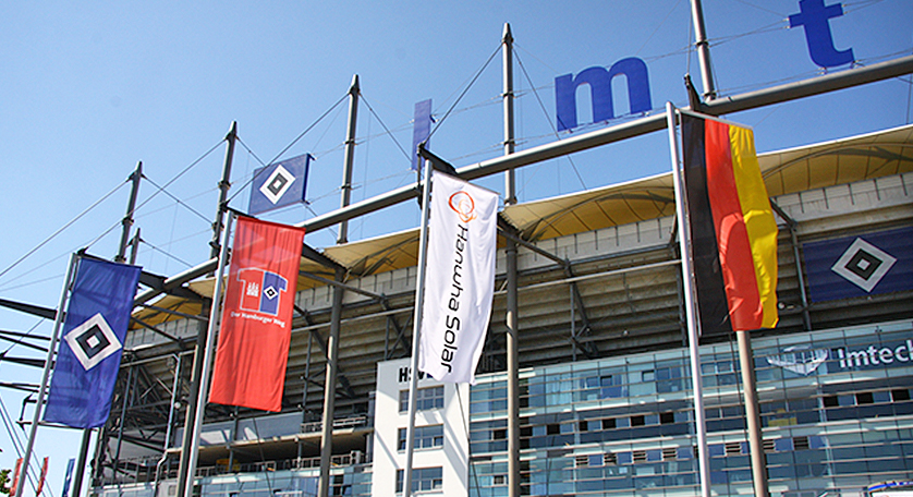 Hanwha Sponsor Day at Hamburger SV home match